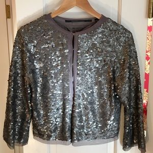 Cropped Sequin Jacket